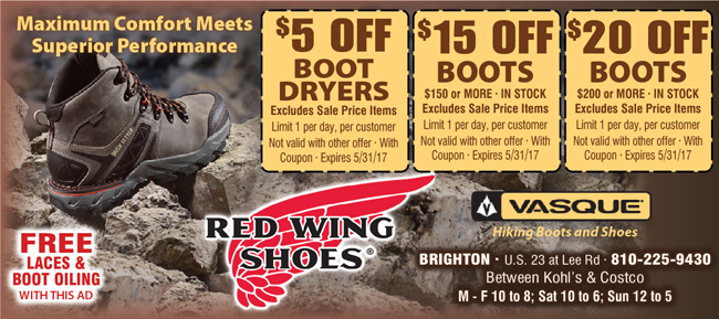 Red Wings Shoes Coupons and Exclusive Discounts from Pocket Pleasers
