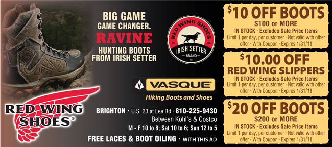 Red wing coupons